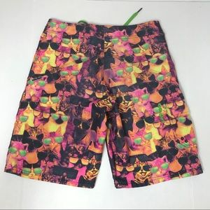 Nike Bottoms - Youth Nike 6.0 Neon Cat Glasses Board Shorts 16
